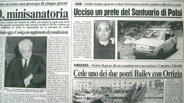 don giuseppe giovinazzo, polsi, Santuario della Madonna della Montagna, statua, Reggio, Calabria, Archivio