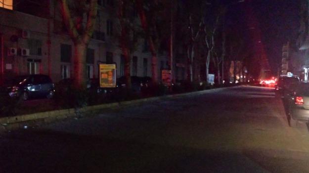 buio, messina, pubblica illuminazione, strade, Messina, Archivio