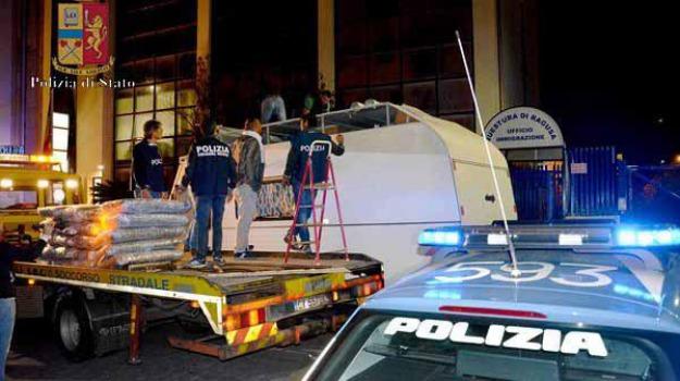 camper, droga, polizia, ragusa, Sicilia, Archivio