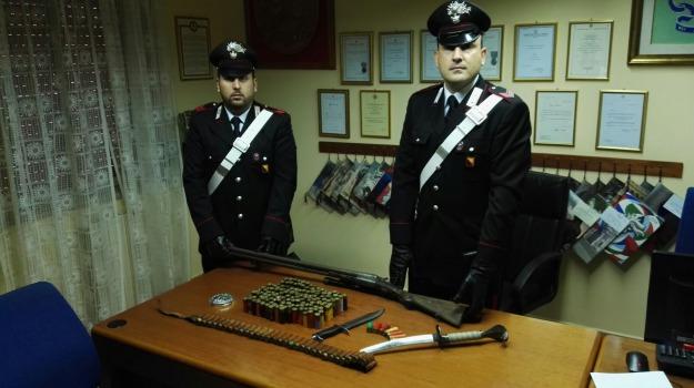 fucile, katana, munizioni, santa lucia, Messina, Sicilia, Archivio