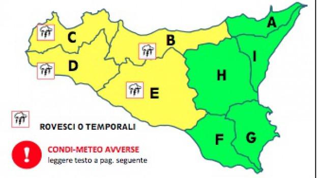 allerta meteo, maltempo, palermo, protezione civile, Sicilia, Archivio