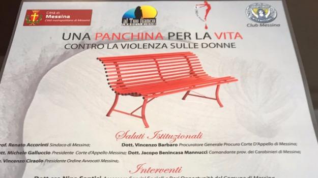 femminicidio, panchina rossa, Messina, Archivio