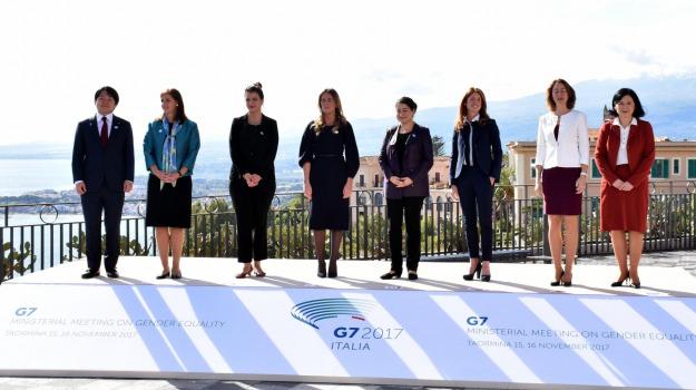 g7, pari opportunità, taormina, Sicilia, Archivio