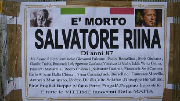 manifesto funebre, Sicilia, Archivio, Cronaca