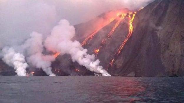eruzione, isole eolie, stromboli, Messina, Archivio
