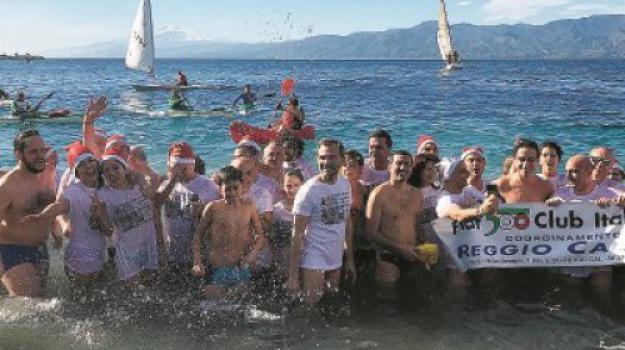 bagno a mare, capodanno, falcomatà, reggio, Reggio, Calabria, Archivio