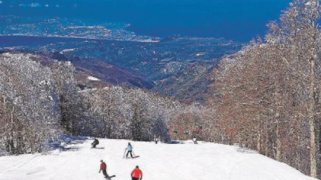 gambarie, neve, sci, seggiovia, stagione sciistica, Reggio, Calabria, Archivio