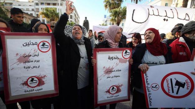 arresti, proteste, tunisia, Sicilia, Archivio, Cronaca