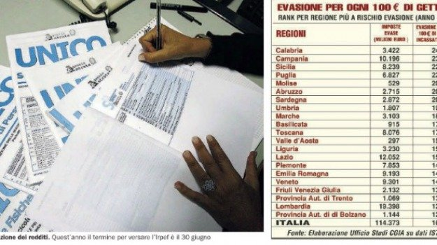 calabria, evasione fiscale, Numbers