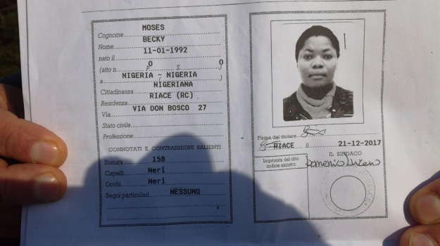 Becky Moses, nigeriana, san ferdinando, tendopoli, Reggio, Archivio