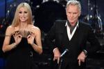 Sanremo, seconda serata tra amarcord Baudo e Sting