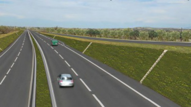 autostrada, Ragusa-Catania, Sicilia, Archivio
