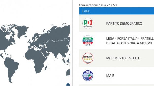 elezioni politiche, voto all'estero, Sicilia, Archivio