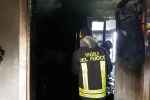 Incendio in abitazione