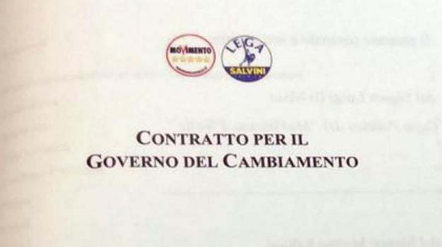 contratto, governo, lega, m5s, Sicilia, Archivio, Cronaca