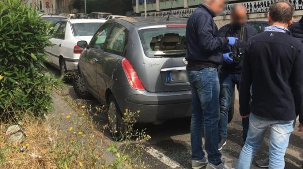 auto crivellata, poliziotto, questura messina, Messina, Sicilia, Archivio
