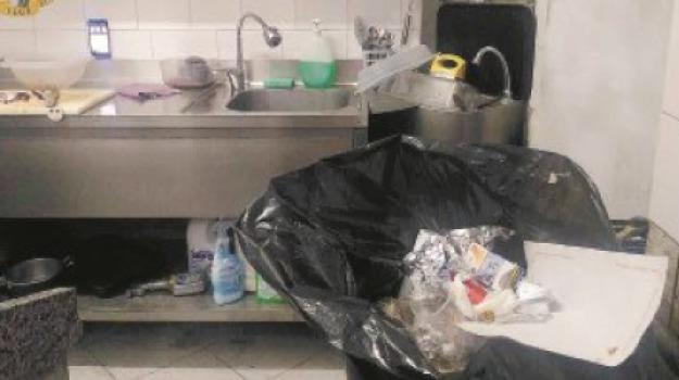 condizioni igieniche, messina, panineria chiusa, polizia, Messina, Archivio