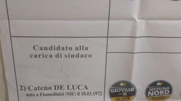 de luca, Messina, Politica