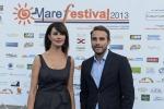Maria Grazia Cucinotta a Salina per parlare del film su Lamborghini