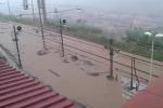 Nicotera, il video della stazione allagata