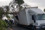 Albero centra camion, A/18 bloccata