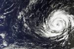 Lo uragano Ophelia visto dal satellite Sentinel 3/o (fonte: Copernicus Sentinel/ESA)