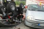 Scontro tra una Renault Clio ed un Quad