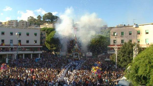 processione, vara, Messina, Sicilia, Società