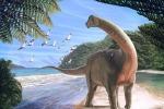 Ricostruzione artistica del dinosauro Mansourasaurus shahinae vissuto circa 80 milioni di anni fa in Egitto (fonte: Andrew McAfee, Carnegie Natural History Museum)