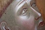 Le analisi confermano che la tela che conteva il 'pane di San Francesco' risale al 1200. Nella foto un particolare dell'estasi di San Francesco, di Giotto