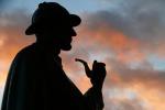 La silhouette della statua di Sherlock Holmes a Baker Street (fonte: dynamosquito/flickr)