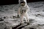 L'astronauta Buzz Aldrin sulla Luna durante la missione Apollo 11 (fonte: NASA)