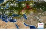 La mappa delle rilevazioni del rutenio sull'Europa elaborata dall'Istituto di Radioprotezione e Sicurezza Nucleare francese (Irsn) (fonte: IRSN)