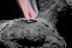Le esplosioni sulla cometa 67P/Churyumov–Gerasimenko riprese dalla sonda Rosetta e riprodotti con una simulazione al computer (fonte: Xian Shi et al., Nature Astronomy)