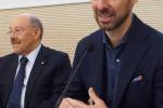 Massimiliano Alajmo, chef del ristorante tristellato 'Le Calandre' di Sarmeola, alla conclusione del Master della cucina italiana nel vicentino