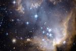 La Piccola Nube di Magellano nell'immagine vista nell'ottico (fonte: ANU e CSIRO)