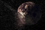 Rappresentazione artistica dell'impatto avvenuto sull'asteroide Pallas e che avrebbe dato origine all'asteroide Fetonte (fonte: B. E. Schmidt and S. C. Radcliffe of UCLA)