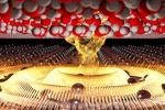 Rappresentazione grafica di onde di elettroni (plasmoni) su uno strato di materiale sottile come un atomo, chiamato fosforene (fonte: CNR)