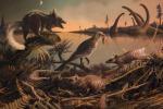 Ricostruzione dell'habitat dei primi mammiferi (fonte: Mark Witton, paleoartista dell'Università di Portsmouth)