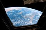 L'Italia fotografata dalla Cupola,la finestra della Stazione Spaziale (fonte: Paolo Nespoli, ESA, NASA)