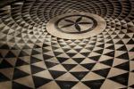 I motivi decorativi del pavimento di Villa Getty, a Los Angeles, riprendono la serie di Fibonacci (fonte: Melissa Youngern)