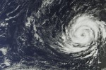 L'uragano Ophelia visto dal satellite Sentinel 3° (fonte: Copernicus Sentinel/ESA)