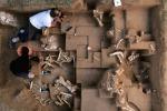 Il sito archeologico di Untermassfeld, dove finora sono stati trovati i resti fossili di 14.000 grandi animali che risalgono al periodo compreso tra 900.000 e 1,2 milioni di anni fa (Marc Steinmetz)