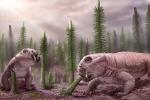 Rappresentazione artistica di Litiosauri, tra le specie che si sono affermate con successo dopo un'estinzione di massa (fonte: Victor O. Leshyk)