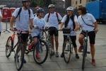 Raduno di viaggiatori in bici a Mantova