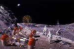 Ricostruzione artistica di una futura base lunare (fonte: NASA/Dennis M. Davidson)