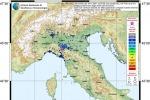 Mappa della percezione del terremoto nel parmense del 19 novembre 2017, elaborata dal servizio 'Hai sentito il terremoto?', dell'Ingv (fonte: INGV)
