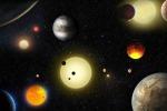 Rappresentazione artistica di alcuni dei pianeti esterni al Sistema Solare scoperti dal telescopio spaziale Kepler, nuovi possibili obiettivi per cercare ET (fonte: NASA/W. Stenzel)