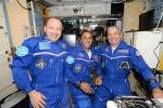Mark Vande Hei e Joe Acaba della Nasa, e Alexander Misurkin di Roscosmos fotografati da Nespoli (fonte: P. Nespoli/ESA-NASA)