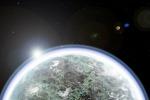 Rappresentazione artistica dell'atmosfera ricca di vapore acqueo che avrebbe circondato il giovanissimo Marte (fonte: Kevin Cannon)